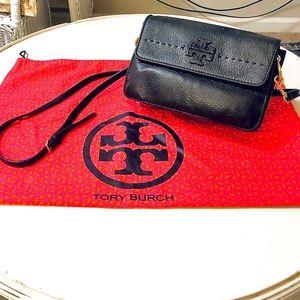TORY BURCH MCGRAW CROSSBODY BAG - BLACK LEATHER
